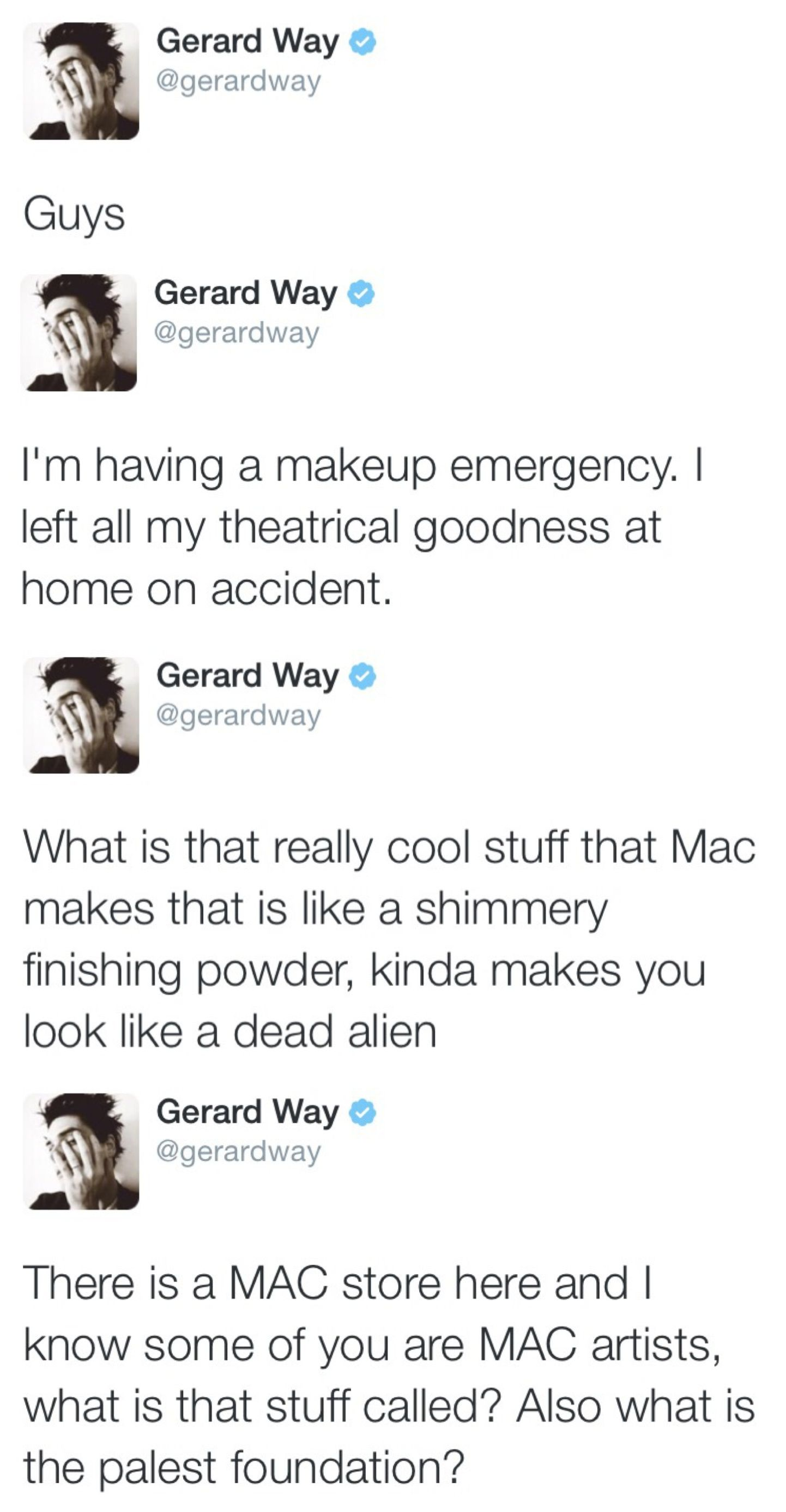 Gerard Way Is My Favorite Person On The Face Of