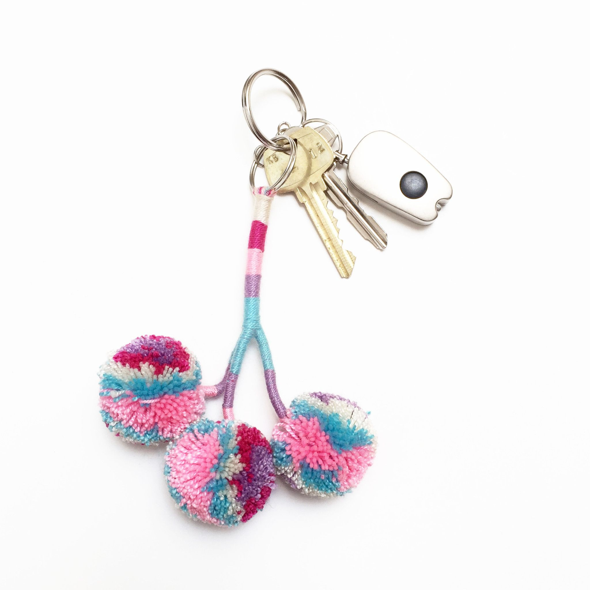 Colorful Pom Pom Key Charm