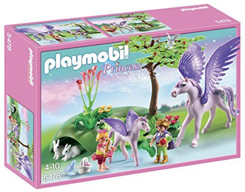 PLAYMOBIL/® Royal Children with Pegasus and Baby Playset 5478
