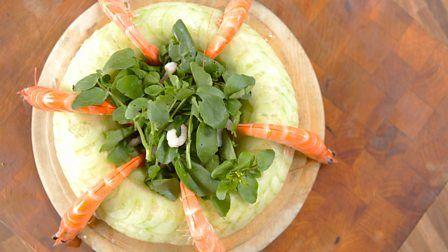 James Martin - Smoked salmon, prawn and cucumber mousse