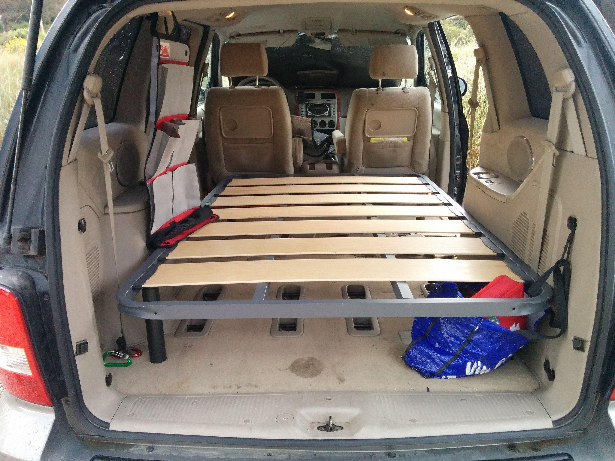 Metal Bed Frame Minivan Camping Bed