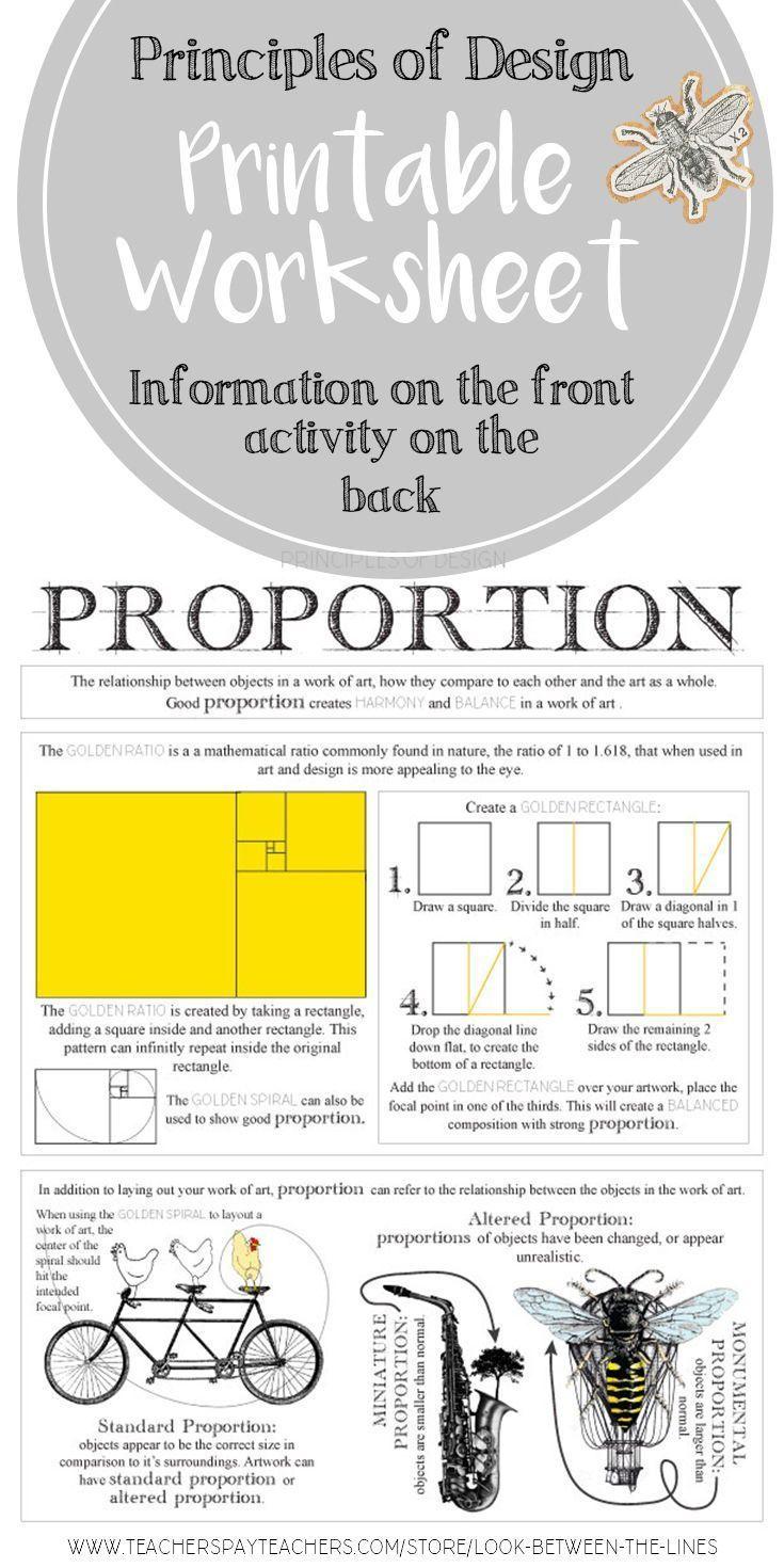Proportion, Principles of Design Visual Art Mini Lesson | Landscape ...