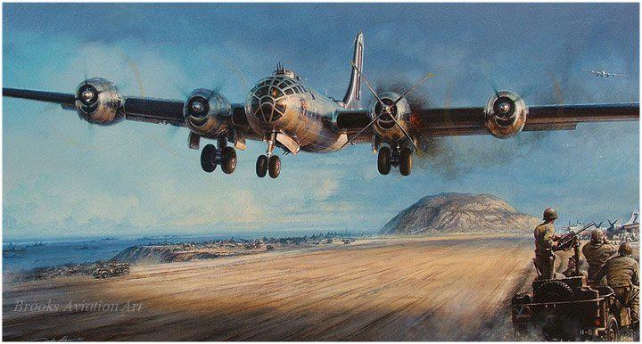 wo Jima, una isla carbonizada, volcánica en el Pacífico, se convirtió en una belleza para las tripulaciones de b29 en problemas, al regresar de misiones contra Japón a principios de 1945.