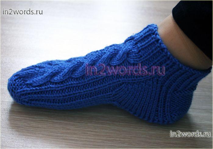 Как вязать носки на 2 спицах - схема и описание, рукводство для