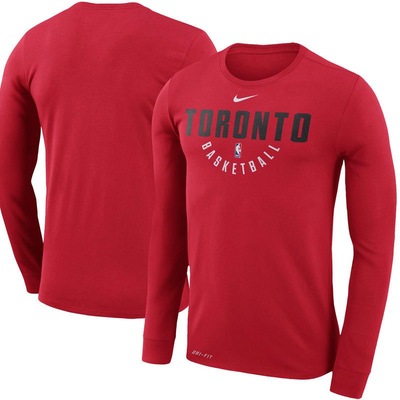 622a6b1d838a Toronto Raptors Nike Practice Long Sleeve Performance T-Shirt – Red ...