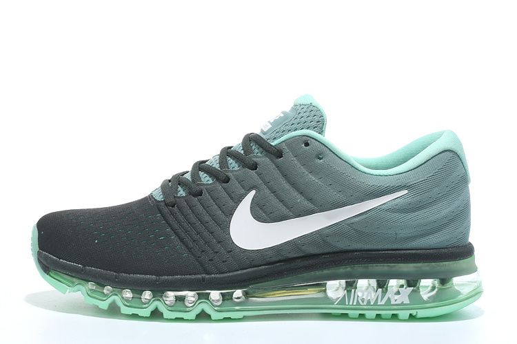 760d723ee26fa Nike Air Max 2017 Womens Black Light Green White Running Shoes