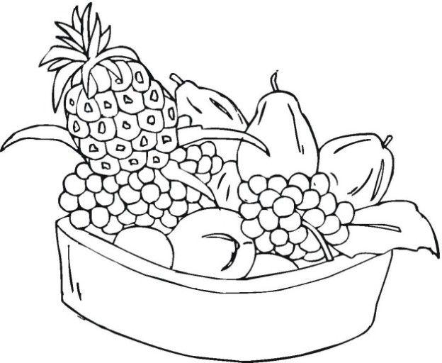 Dibujos Para Colorear Bodegones: Bodegon/Frutas/verduras