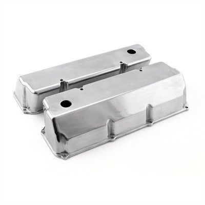 Ford 351c Cleveland 351m 400m Polished Aluminum Valve Covers With Hole TALL