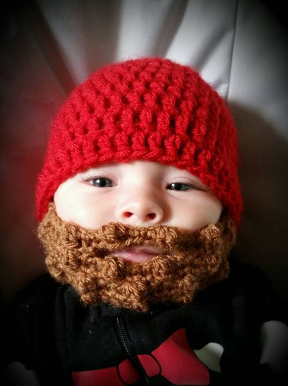 Baby Beard Beanie, hat cap custom size and color, beard hat | 2 ...