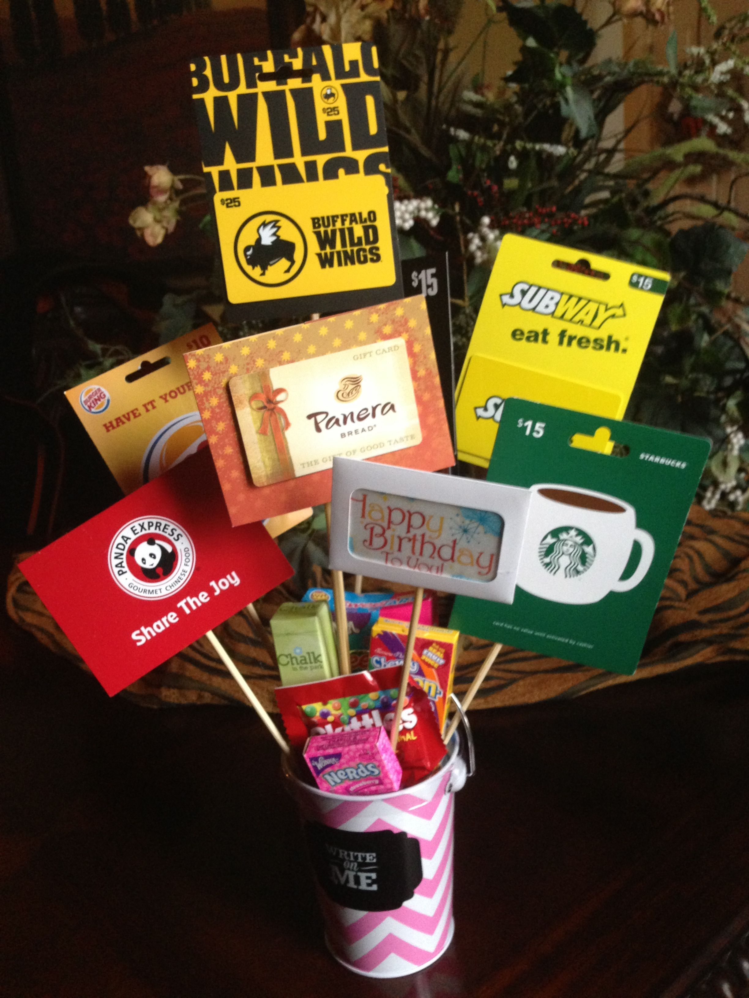 Birthday Gift Card Bouquet For The Adult Or Teen Who Has Everything