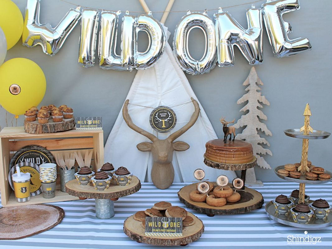 Have a wild 1 year old celebrate their birthday with a for 1 year birthday decoration