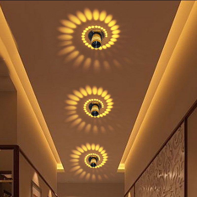 Ceiling Lights & Fans Mini Creative Lamp Led Ceiling Light For Art Gallery Decoration Front Balcony Porch Light Warm White Rgb Corridors Light Fixture
