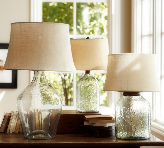 Clift Glass Table Lamp Base Clear Diy Bottle Lamp Table Lamps Living Room Glass Table Lamp