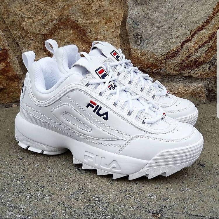 Fila disruptor white. Jentesko, søte sko, Fila hvit  Girly shoes, Cute shoes, Fila white