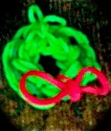 Cute Christmas Wreath Rubber Band Charm