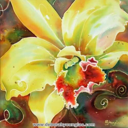Cattleya series ii orchid silk painting by deborah younglao silk orchid silk painting by deborah younglao mightylinksfo