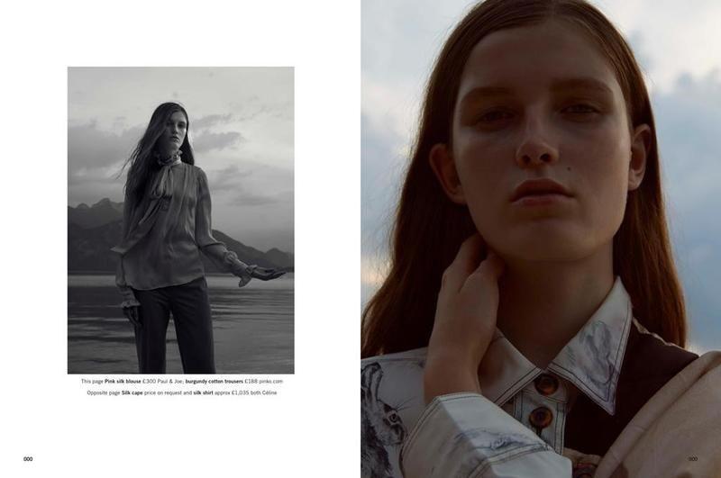 Tessa Bruinsma pose for Glamour UK Magazine November 2015 Photoshoot