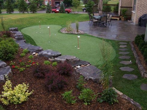 backyard putting green   Home Putting Green   Diy Golf ...