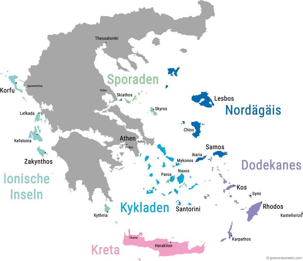 griechenland heraklion karte Griechische Inseln • Übersicht & Karte der Inseln Griechenlands
