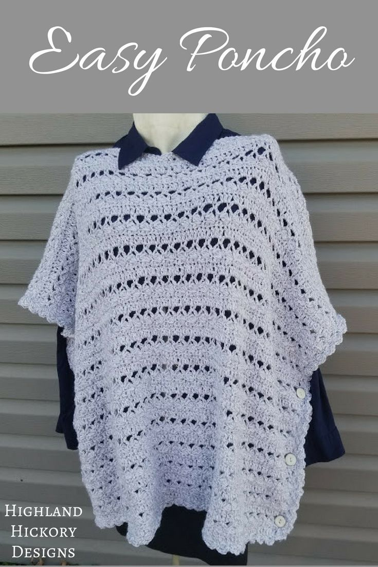 Light & Lacy Poncho | Ponchos, Wardrobes and Crochet