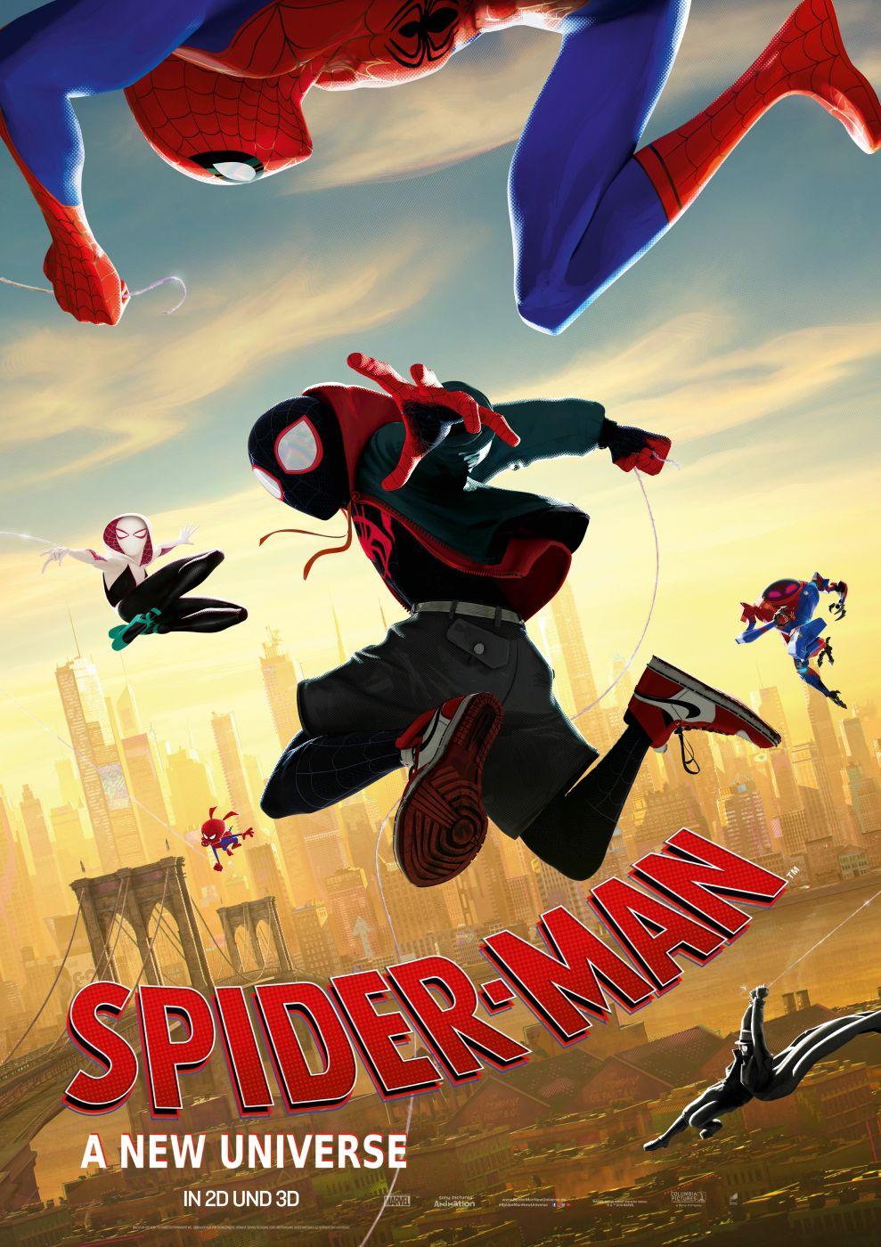 Das Neue Hauptplakat Zu Spider Man A New Universe Ab 13 12 2018