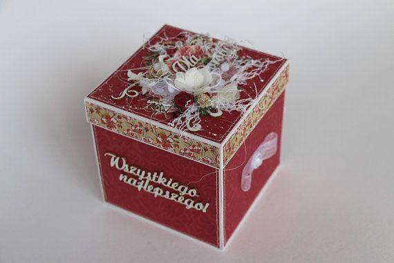 Explosion Box Keepsake Box Gift Box With Lid Red Gift Box Birthday