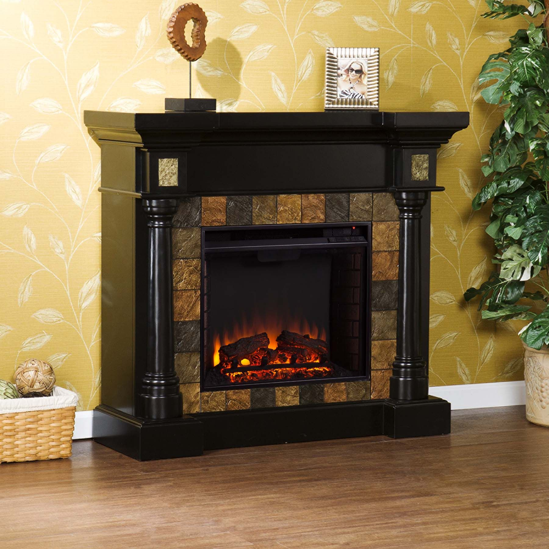 Elegantly Crafted Rustic Electric Fireplaces Electric Fireplace Black Electric Fireplace Fireplace