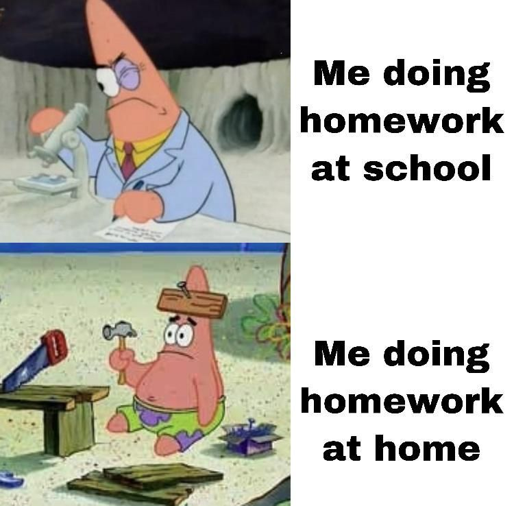Procrastination Funny School Memes Funny Spongebob Memes Funny