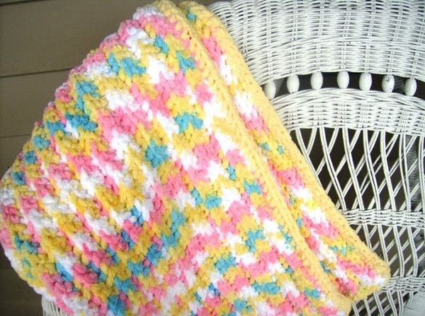 Crochet Pattern Quick & Easy Crochet Bubblegum Blanket Made with ...