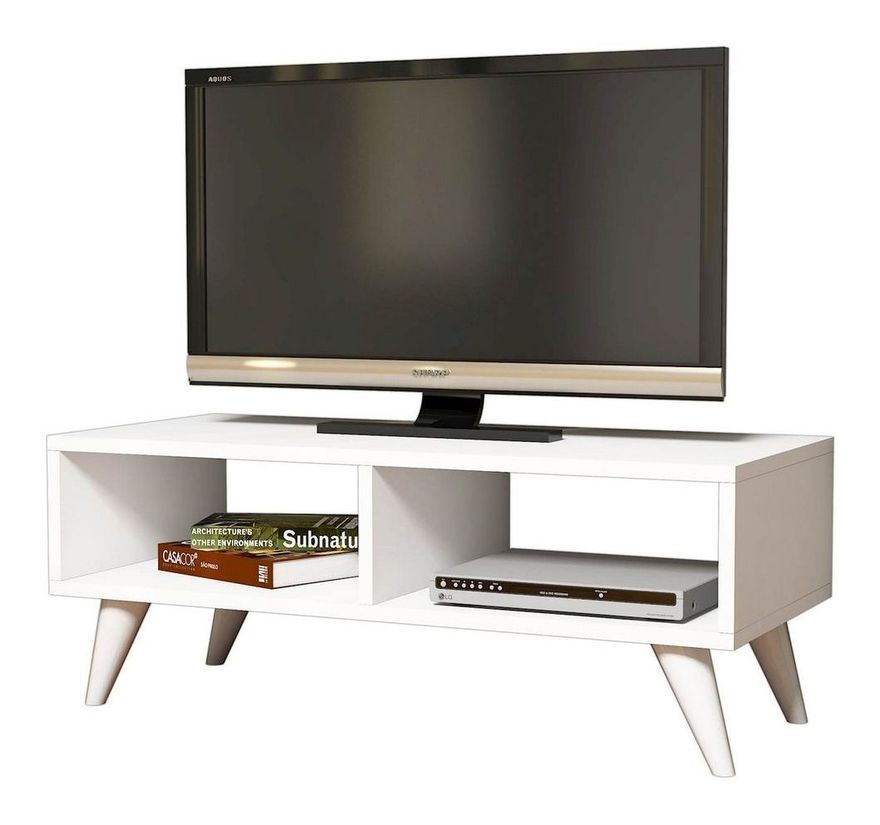Meuble Tv Design Manolya L 90 X H 40 Cm Blanc 180525 Meuble Tv Design Meuble Tv Et Design