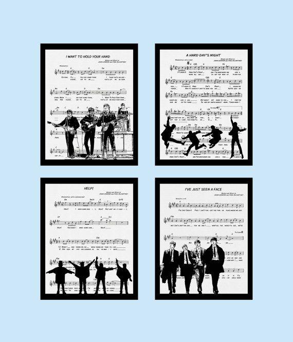 Beatles art prints - for framing | Beatles wall art | Pinterest ...