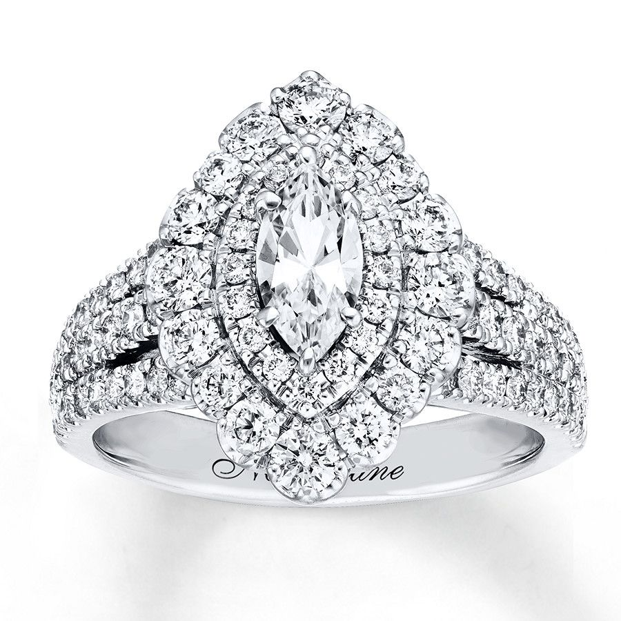 Neil Lane Engagement Ring 13/4 ct tw Diamonds 14K White