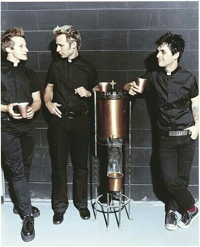 Best looking priests I've ever seen. Billie's so short awwh