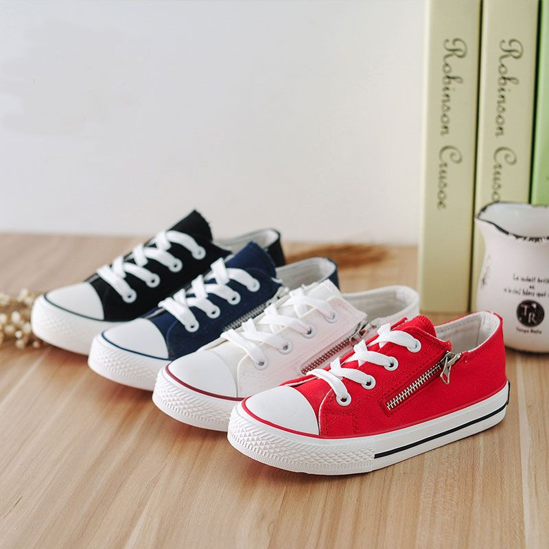 Solid Color Canvas Shoes Canvas Shoes Childrens Shoes Black