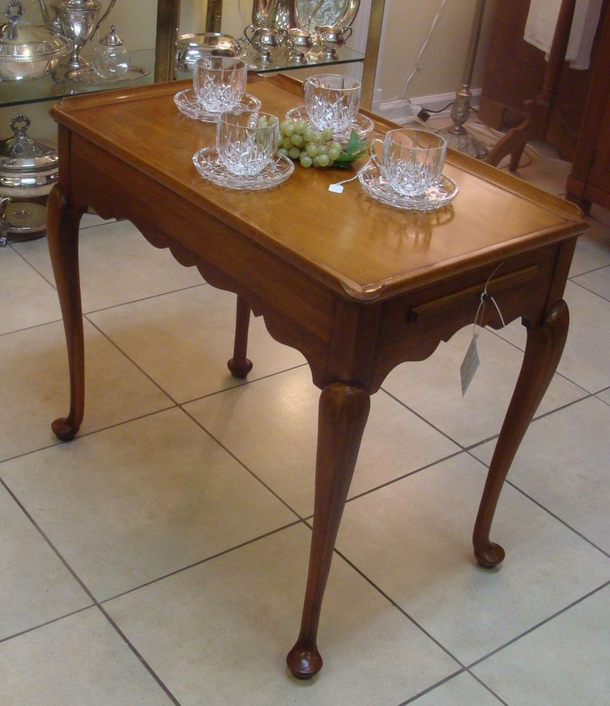 "Statton Furniture Cherry ""centennial"" Queen Anne Tea Table Simple Queen Anne Dining Room Set Design Ideas"