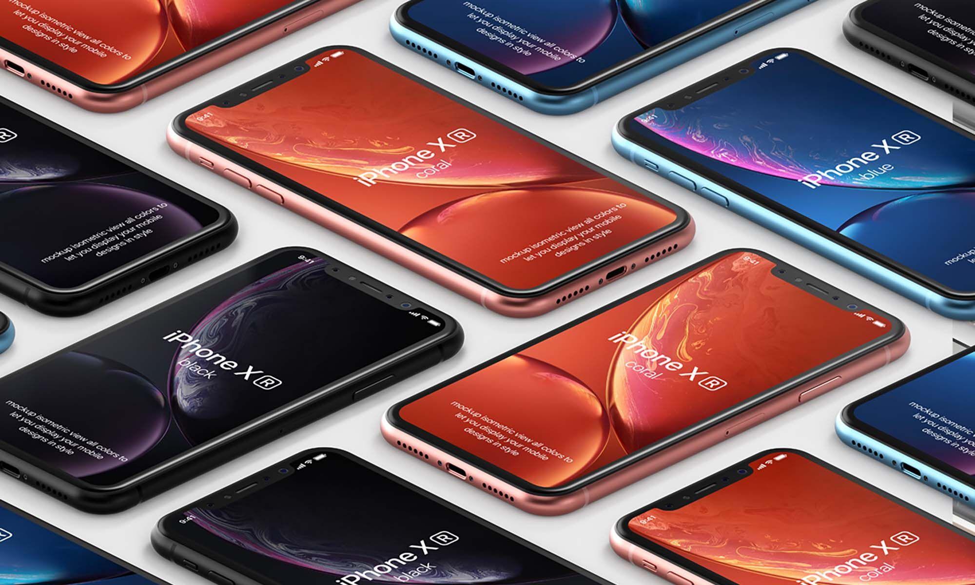 10 Best Free Isometric Mockups Unblast Iphone Mockup Psd Mockup Free Psd Free Iphone