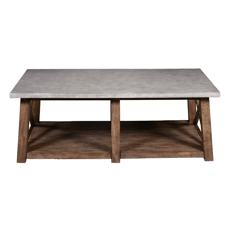 Beliveau Coffee Table Concrete Coffee Table Upholstered Coffee