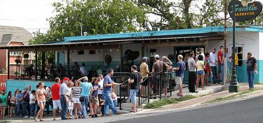 The line at Franklin BBQ in Austin, TX. Starts around 5 am