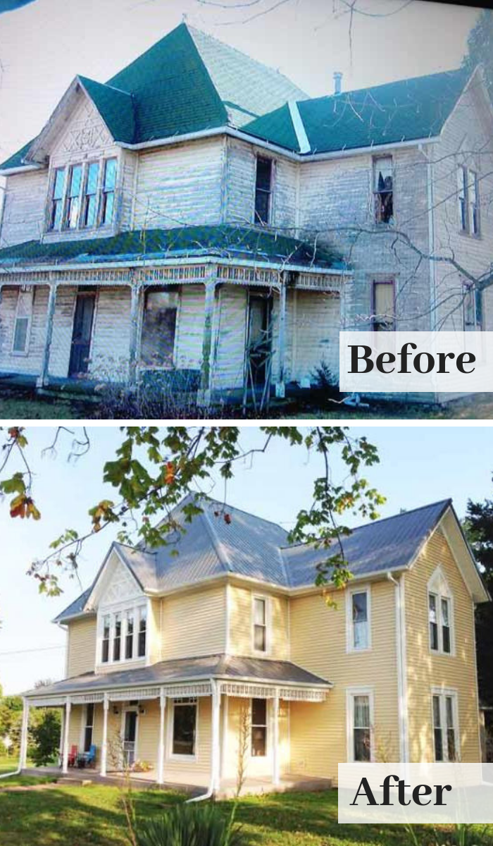 Home Improvement And Remodeling This Old House Scary Houses Farmhouse Renovation Metal Roof Houses