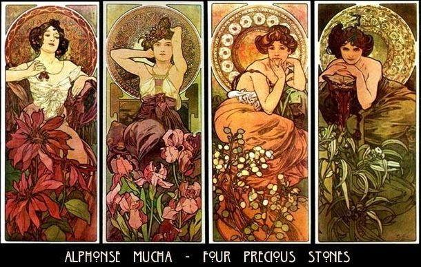 Alphose Mucha - Four pricious stones