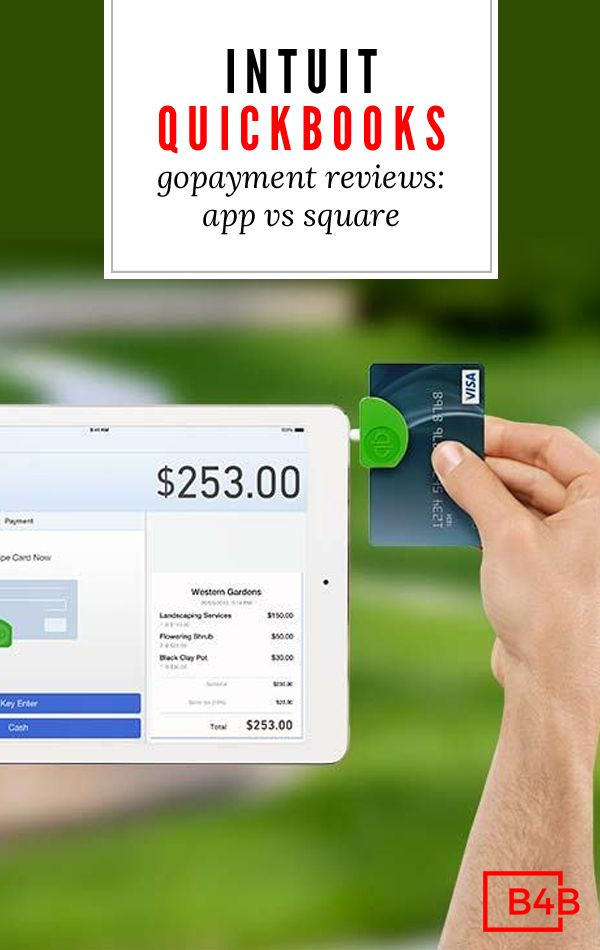 Intuit quickbooks gopayment reviews app vs square accept credit intuit quickbooks gopayment reviews app vs square accept credit cards in your business pinterest credit card readers quickbooks online and business reheart Gallery