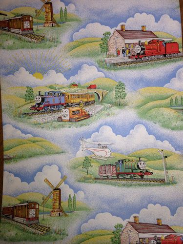 vintage thomas  tank engine wallpaper  short   roll ebay ned  pinterest
