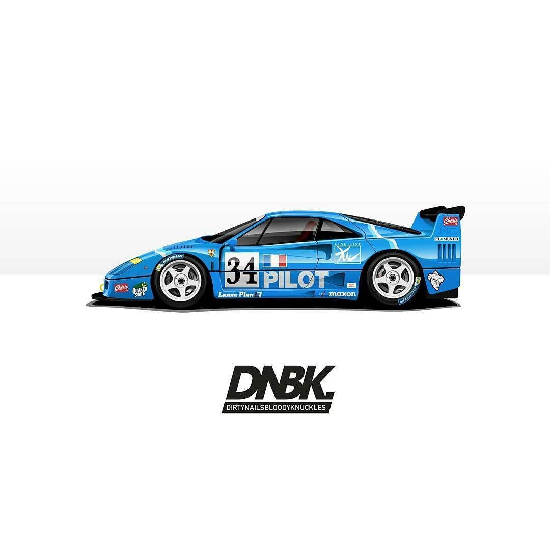 Motorsport Legends artwork prints. Available at Dirtynailsbloodyknuckles.com Link in profile #ferrari #v8 #f40 #f40lm #lemans #racecar #becauseracecar #illustrator #illustration #carart #automotiveart #illest #fatlace #speedhunters #iamthespeedhunter #ferrariart #enzo #f50 #laferrari
