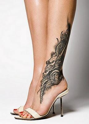 Sexy foot tattos