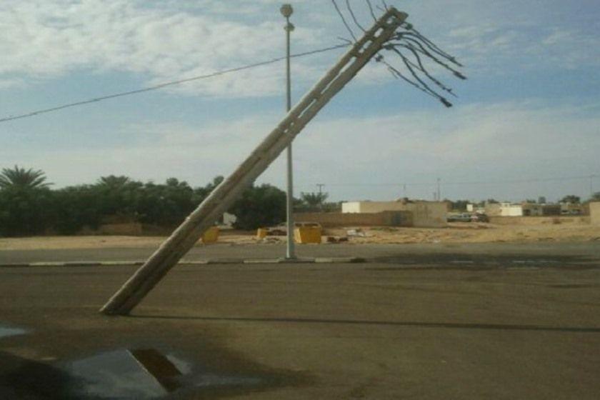 الكهرباء تستنكر إسقاط برج اتصالات في البصرة وتصف من أسقطه بـ المجموعة الإرهابية Wind Turbine Utility Pole