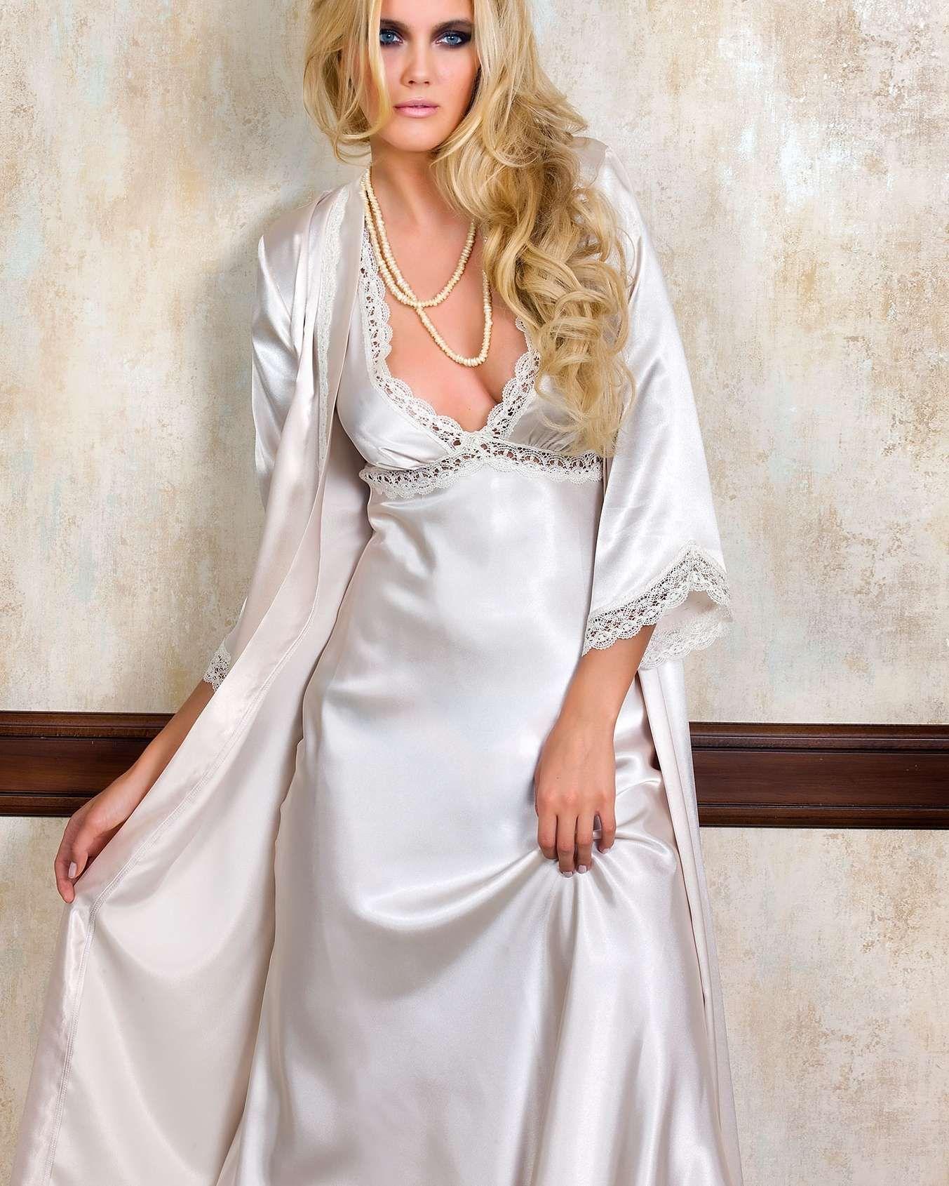 Pierre Cardin Ic Giyim Ceyizlik 6li Saten Gecelik Pijama Sabahlik Ve Sort Takimi 6630 Night Gown Night Dress Dresses