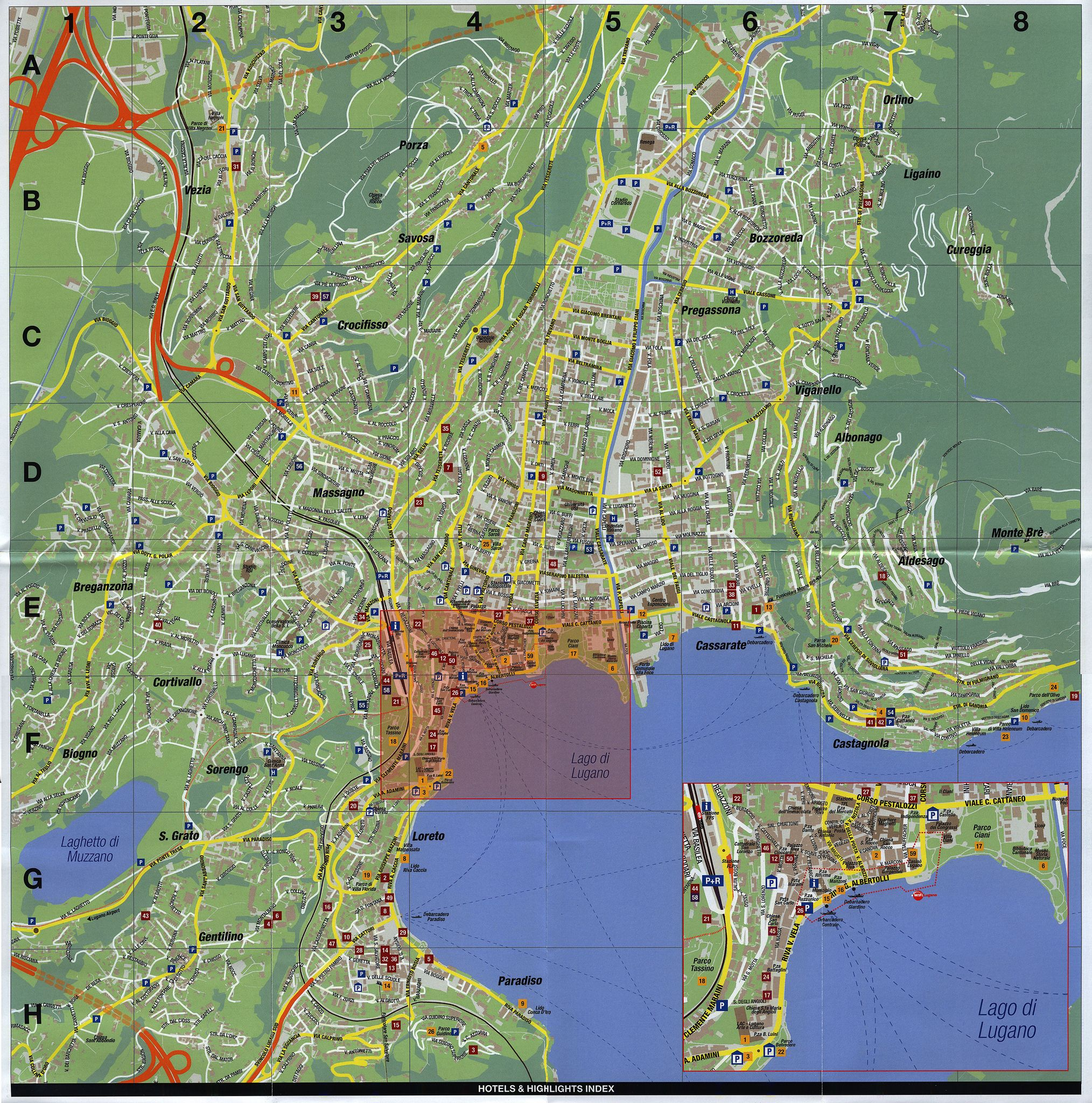 Lugano Hotels Map Start planning your holiday now 20153 Ticino