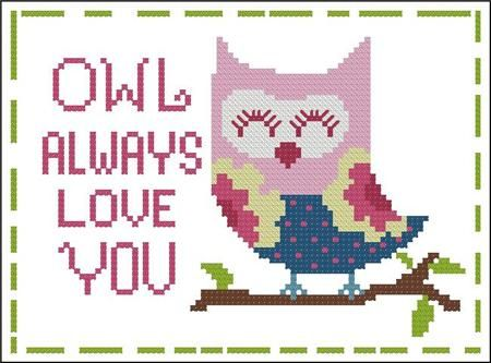 click here to view larger image of Hooties Owl Always Love You (chart)