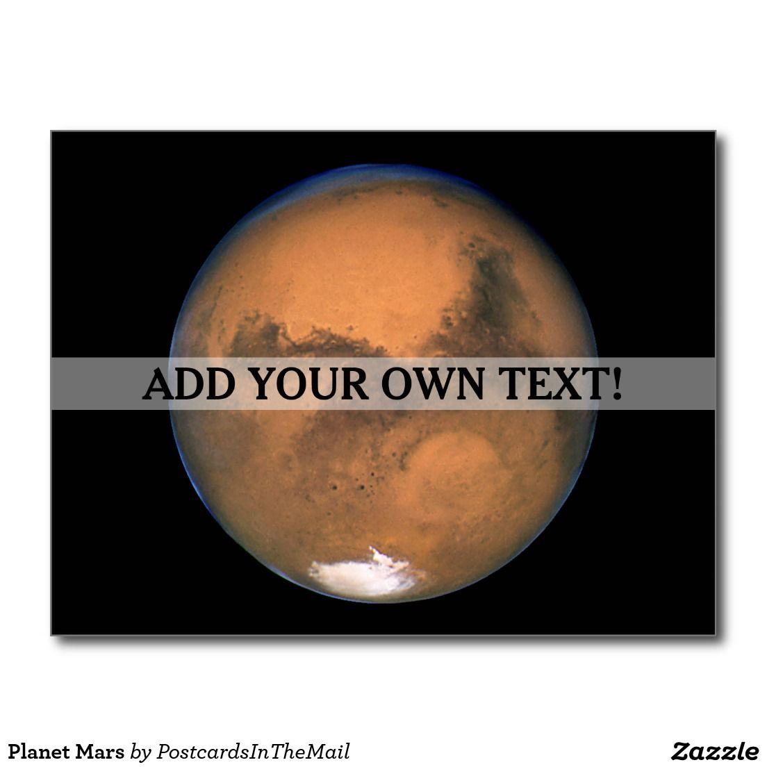 Planet Mars Postcard Planets Postcard Astronomy