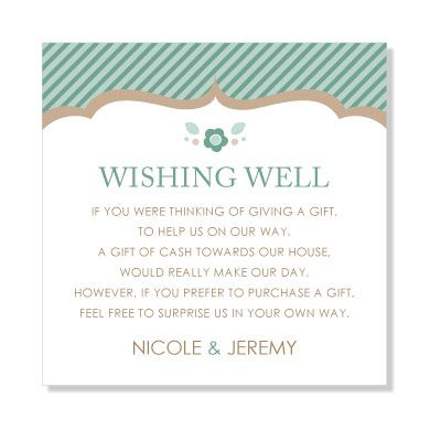 Wishing Well Wording Short